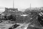 Zerstörte Industriegebäude